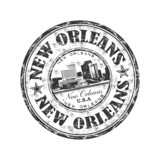Fototapety New Orleans grunge rubber stamp