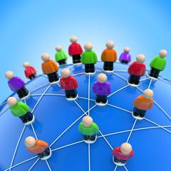 Internationales Netzwerk - Verbindungen und Kontakte