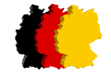 Deutschland Fahne 3D