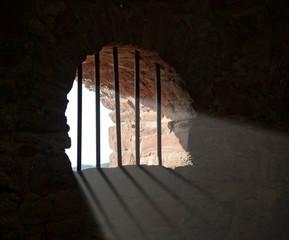 barred window at Wertheim Castle