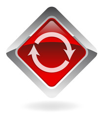 "red vector button ""refresh"""