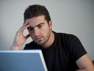 sad man laptop
