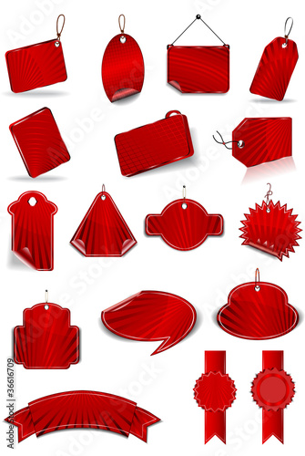 Set red stickers