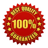 Best quality guaranteed warranty label isolated poster