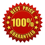 Best price guaranteed warranty label isolated poster