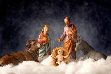 Presepe con Gesù bambino