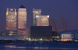 Canary wharf at dawn - the start of a new day