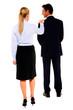 businessman and businesswoman