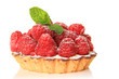 Raspberry fruit tart