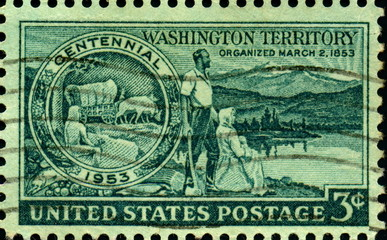 Washington Territory organized march. 1853.US Postage