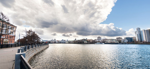 panorama of center of yekaterinburg