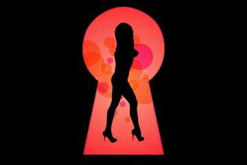 Key Hole Girl