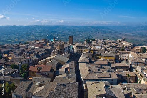 Orvieto vista dalla sommità della torre del Moro