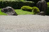Stone garden of Zen Buddhism in Japan poster