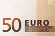 fifty euro banknote detail