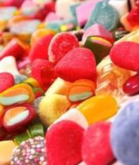 An assortment of colorful candy