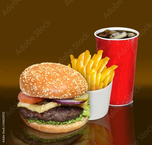 Burger Pommes Cola