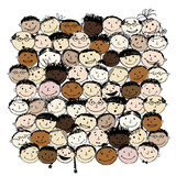 Crowd of funny peoples for your design poster