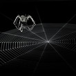 metal spider and spiderweb