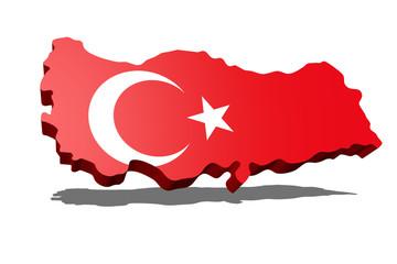Turkey Flag 3D