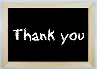 Schild - Thank you