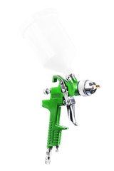 Spray gun isolated over white background