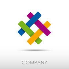 Logo Synergy. Teamwork # Vector