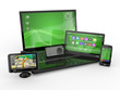 Laptop, mobile phone, tablet pc and gps. 3d