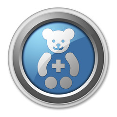 "3D Style Button ""Pediatrics"""