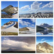 Постер, плакат: Collage from mountain photographs