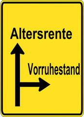 Altersrente vs. Vorruhestand