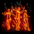Dancing fire girls