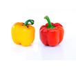 Fresh colorful paprika isolated on white background