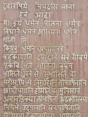 Devanagri language on the stone.
