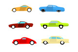 Hot rod color cars icons