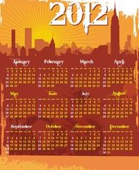 grunge urban calendar 2012 starts sunday
