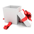 illustration of empty box for Christmas gift