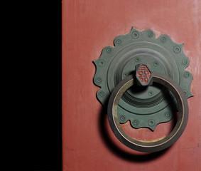 An old Italian door knocker found in Siena Tuscany Italy