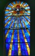 Holy Spirit in a stained glass view - 36649149