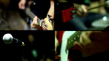 Guitar, Guitar Bass and Drums - Multiscreen