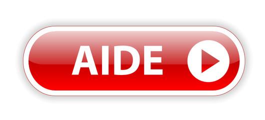 """Bouton Web """"AIDE"""" (service clients support dépannage assistance)"""
