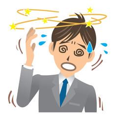 ビジネスマン A 病気 目眩 _