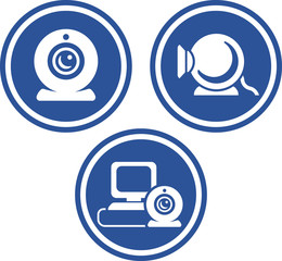 Webcam videoconference - Vector icons
