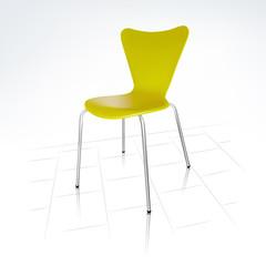 Realistic Modern Green Chair