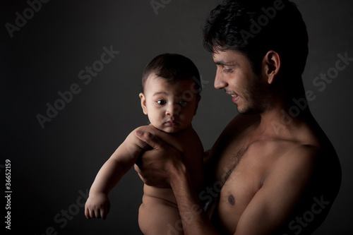 Indian happay father and son