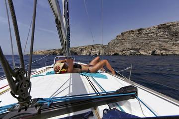Malta Island, view of the western rocky coastline