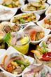 Fischbuffet 4: verschiedene Vorspeisen II