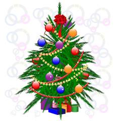 decoraded Christmas tree