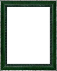 old time vintage silver and green rustic high quality frame isol