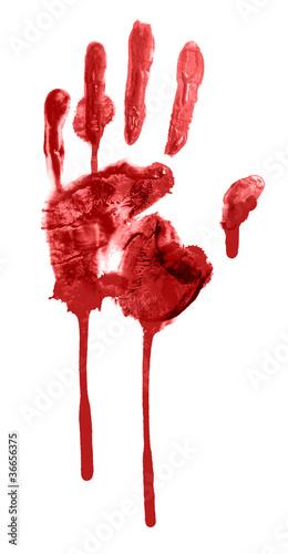 bloody handprint - 36656375
